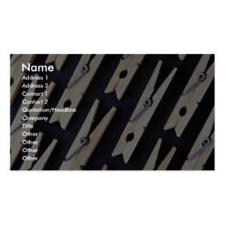 Clothes pins in rows business card template