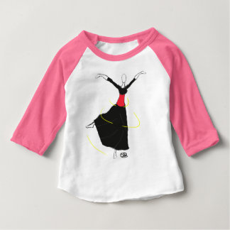 Clothes with dancer drawing baby T-Shirt