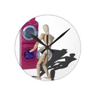 ClothesInWashingMachine072714.png Reloj Redondo Mediano