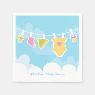 Clothesline Baby Pastels Napkin