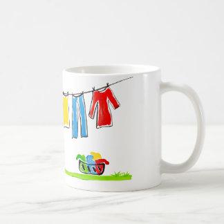 clothesline coffee mug