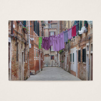 Clothesline In Venice Italy Business Card