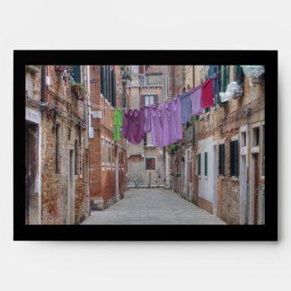 Clothesline In Venice Italy Envelope