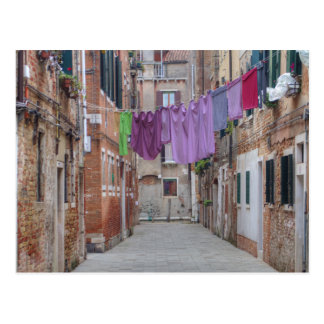 Clothesline In Venice Italy Postcard