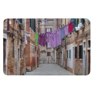 Clothesline In Venice Italy Rectangular Photo Magnet