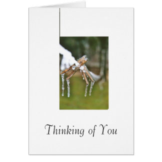 clothesline in Winter Greeting Cards