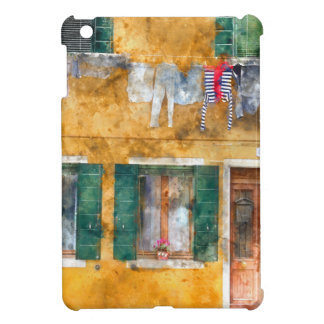 Clothesline on a Building in Burano Italy iPad Mini Case