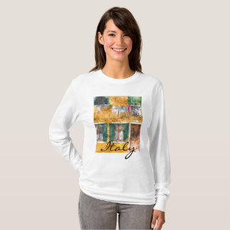 Clothesline on a Building in Burano Italy T-Shirt