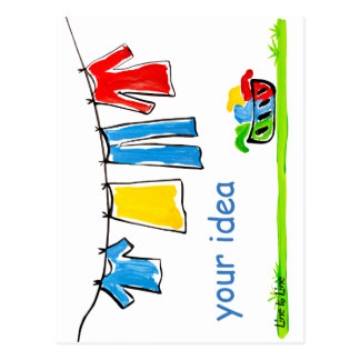clothesline postcard