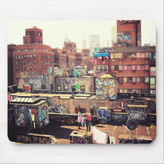 Clotheslines and Graffiti Mouse Pad
