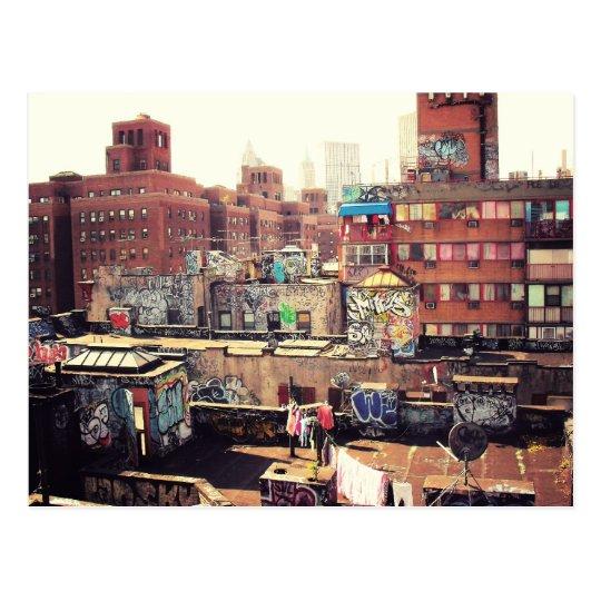 Clotheslines and Graffiti Postcard