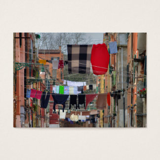 Clotheslines In Venice Italy Business Card