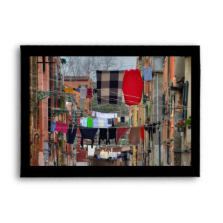 Clotheslines In Venice Italy Envelope