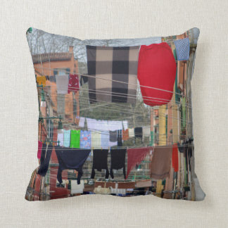 Clotheslines In Venice Italy Throw Pillow
