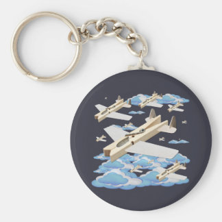 Clothespin Airplanes Keychain