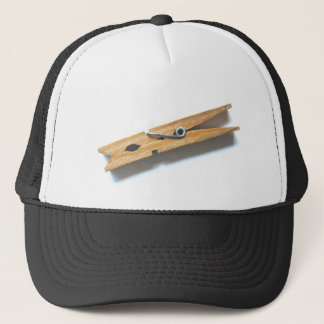 clothespin trucker hat