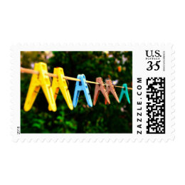 Clothespins Mama Mother's Day Love Stamp