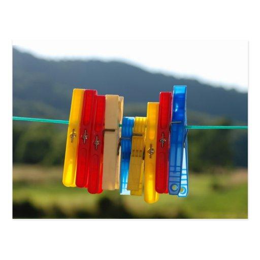 Clothespins Postcard