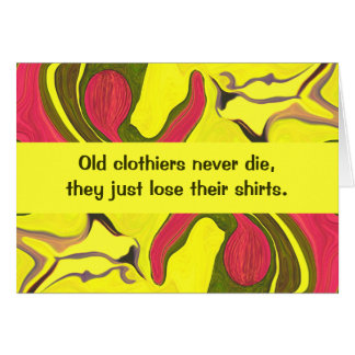 clothiers humor greeting card
