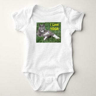 Clothing Baby Cat I Love Yoga Baby Bodysuit