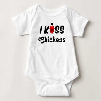 Clothing Baby I Kiss Chickens Baby Bodysuit