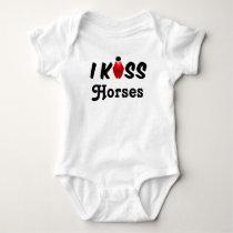 Clothing Baby I Kiss Horses Baby Bodysuit