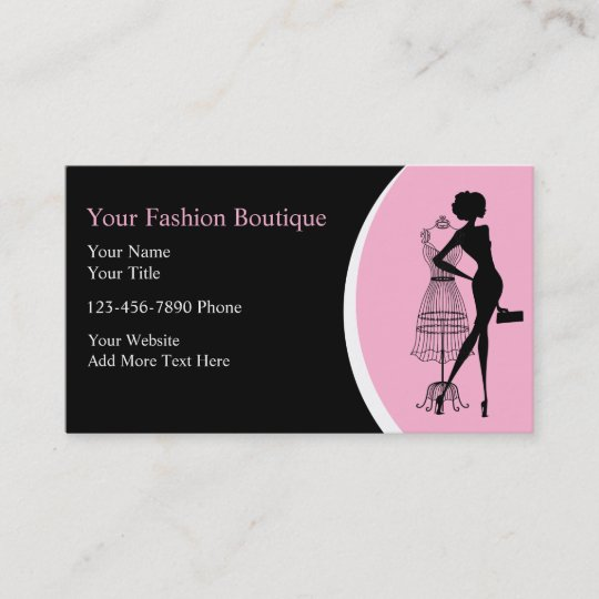 Clothing boutique business cards zazzle clothing boutique business cards reheart Gallery
