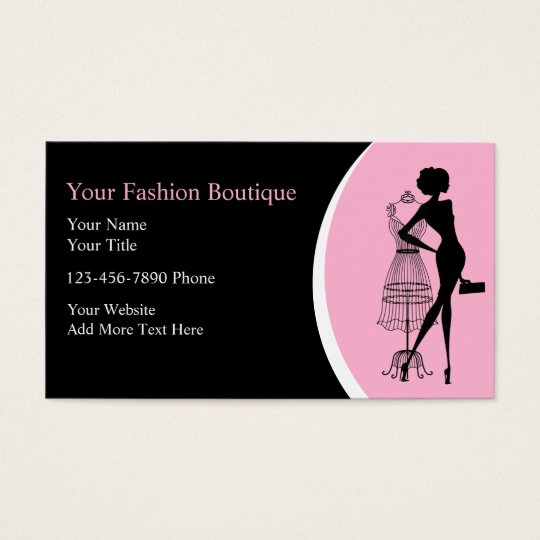 Clothing boutique business cards zazzlecom for Business card for clothing boutique