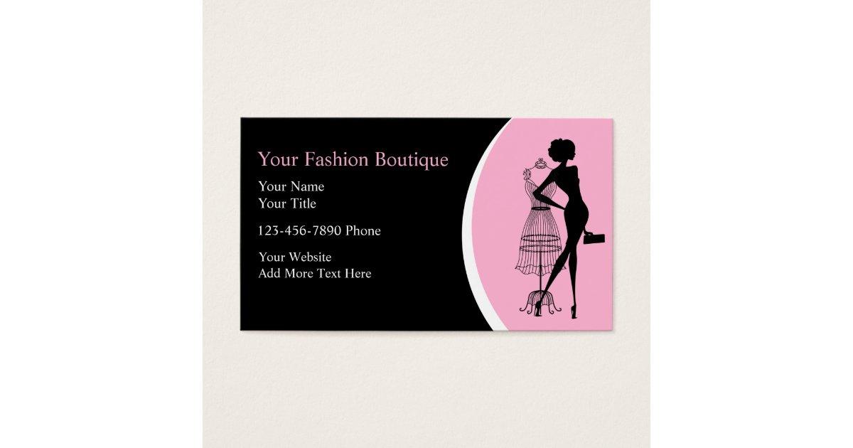 Clothing Boutique Business Cards | Zazzle.com