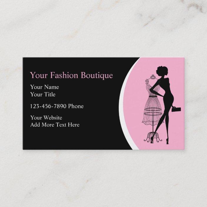 Clothing Boutique Business Cards Zazzle Com