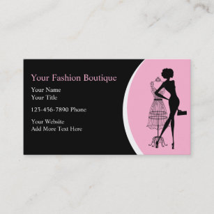 Clothing business cards zazzle clothing boutique business cards colourmoves