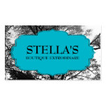 Clothing Boutique Trees Retail Business Cards