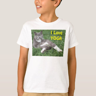 Clothing Children Cat I Love Yoga T-Shirt