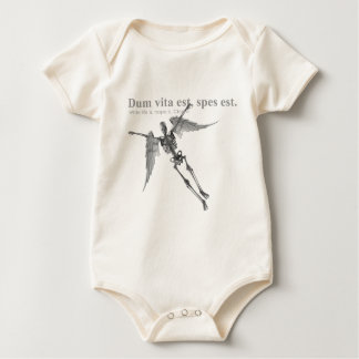 Clothing for teenagers and adults with Latin quote Baby Bodysuit