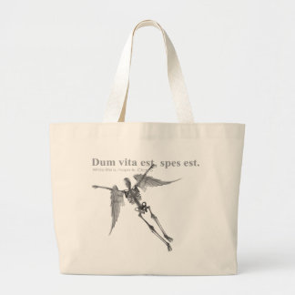 Clothing for teenagers and adults with Latin quote Tote Bags