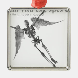 Clothing for teenagers and adults with Latin quote Metal Ornament