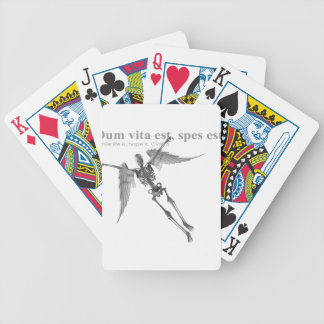 Clothing for teenagers and adults with Latin quote Poker Cards