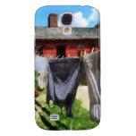 Clothing Hanging on Line Closeup Samsung Galaxy S4 Case