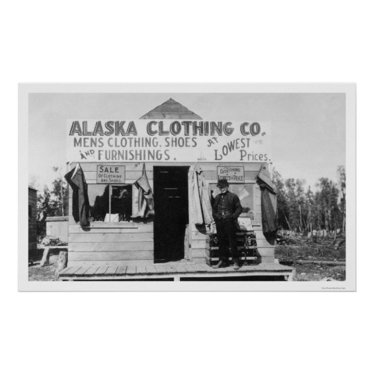 Clothing in Anchorage, Alaska 1915 Poster