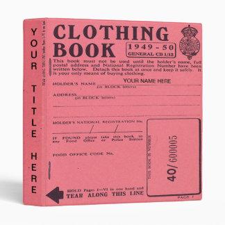 clothing ration book binder