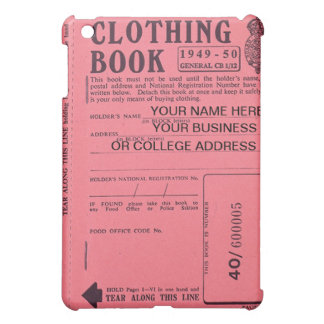 clothing ration book  iPad mini cases