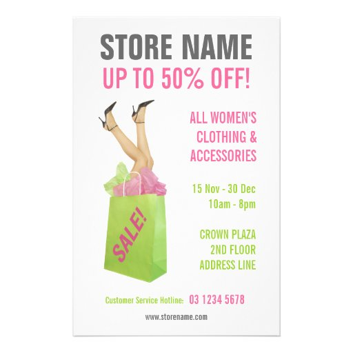 Clothing Store Sale flyer