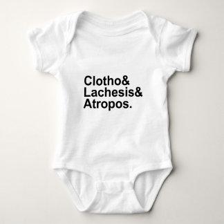 Clotho Lachesis Atropos | 3 Fates of Greek Myth Baby Bodysuit
