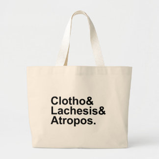 Clotho Lachesis Atropos | 3 Fates of Greek Myth Large Tote Bag