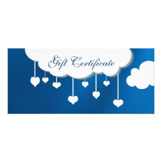 Cloud And Heart Raindrop Gift Certificate Custom Rack Cards