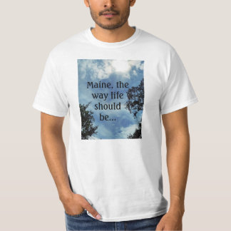 Cloud and Maine Themed Value T-Shirt
