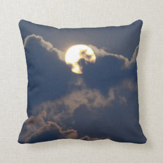 Cloud and Moon Cushion Throw Pillow