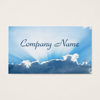 Cloud and Sun Business Card