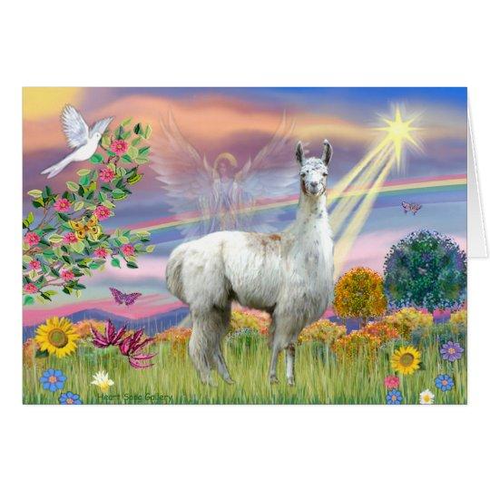 Cloud Angel and Llama Card