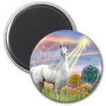 Cloud Angel and Llama Fridge Magnets